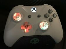 Limited Edition Light Grey & Blue Xbox One Controller w LED GLOWING MOD Halo COD