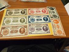 Netherlands indies set from 100 gulden 1 gulden and 50cent are UNC rest XFs