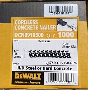 """DEWALT DCN8910500 CCN STEEL FASTENING PINS, 1/2"""" X .120"""