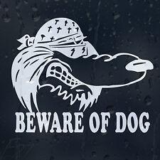 Funny Dog Bandana On Board Beware Car Or House Decal Vinyl Sticker