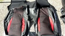 MGZT REAR SEAT COVER Sedile Schienale MONACO inserti in pelle rossa HMA000710WSK