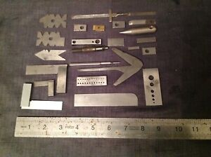 Engineers Engineering Lathe Tools and Gauges Angles From Clockmakers Collection