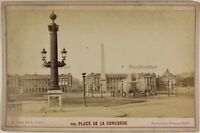 Place Da La Concorde Parigi Foto Ladrey Cartolina Foto P15Ln14 Vintage Albumina