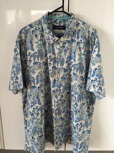 Tommy Bahama Silk Shirt Palm Print Sz XXL