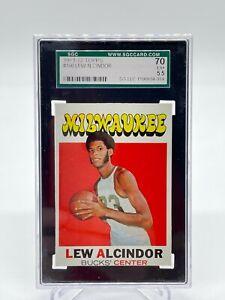 1971-72 Topps Lew Alcindor Kareem #100 - SGC 70 EX+ 5.5 Cert #1199604-01