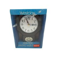 """Vintage Westclox """"Classtime"""" Electric Kitchen Wall Clock Model 26261 Smooth Dial"""