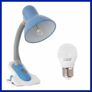 Desk Office Bedside Study Table Lamp Flexible Adjustable Arm Switch 5W E27 LED