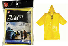 4 Emergency Rain Poncho Hooded Adult Disposable Camping Outdoor Sport