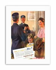 1945 PENNSYLVANIA RAILROAD FAMILY NEW Poster Picture Advertising Canvas art