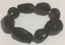 Colette Black Beaded Bracelet Bangle Plastic Different Shapes Stretch Jewellery
