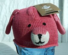 Delux Cotton Knitwits Beanie Toddler 18-36 Mo's Doggie Pink Made Nepal New w Tag