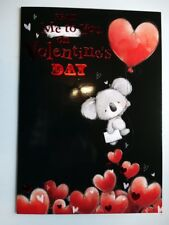 Cute Bear Heart Balloon Design Large From Me To You On Valentines Day Card
