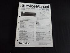 Original Service Manual Technics sl-pd1010