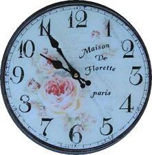 Wanduhr Maison Paris Glass Batt D 30cm Clock  Geschenk vintage Ästhetik Rarität1