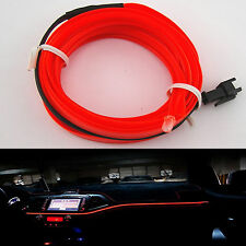6.5ft Panel Gap Neon Light Strip 12V Cold EL OLED Car Atmosphere Interior Trim