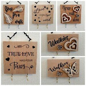 Dog hooks hanger. Pet quote plaque. Dog sign. Collar lead leash. Wooden sign.