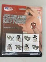 C2) Wake Forest Demon Deacons Team Tattoo Pack NCAA New
