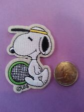 """Snoopy Dog   plays Tennis iron on patch Never used appx 2.5"""""""