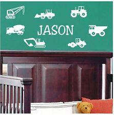 Wall Stickers custom baby name truck car vinyl decal decor Nursery kid removable