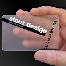 500 Full Color Custom PVC Frosted Plastic Business Cards + Free design