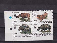 indonesia 1996 WWF Sc 1673 block of four MNH         j2389