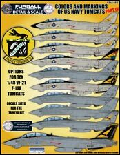 """1/48 Furball F-14 """"Colors and Markings of USN Tomcats PT IV"""" for the Tamiya Kit"""