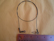 """15 STAINLESS STEEL WIRE SPINNER LEADER  24"""" 100 LBS. TEST W/BALL BEARING SWIVEL"""