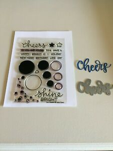 Lawn Fawn Let's Bokeh Stamp Set with Cheers Die