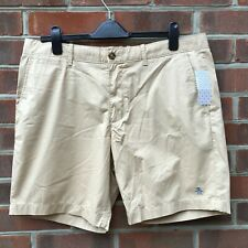 ORIGINAL PENGUIN Chino Shorts Beige Mens Size W36 Zipper Fly Casual