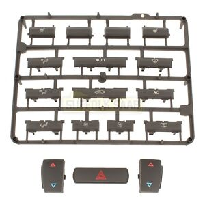 SAAB 93 9-3 03-06MY ACC CLIMATE CONTROL PANEL HEATED SEATS BUTTON REPAIR KIT