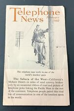 Pacific Telephone News February 1960 Brochure VTG Ephemera Phone Company CA