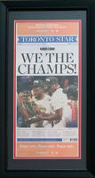 Toronto Star NBA Raptors WE THE CHAMPS Original Front Page Framed Newspaper
