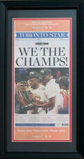 Toronto Star NBA Raptors WE THE CHAMPS Original Front Page Framed Newspaper