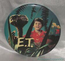 "Vintage 80s 1982 E.T. Spielberg Big 6"" Alien & Elliot Button Promo Badge Pin"
