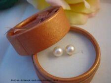 Echte Perlen-Ohrschmuck im Ohrstecker-Stil mit Glücks-Themen