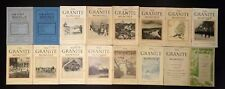 THE GRANITE MONTHLY Lot of 16 Issues 1909 to 1925, A New Hampshire Magazine, VG