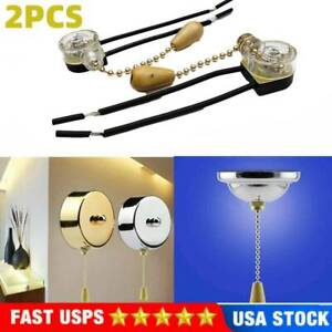 Universal Ceiling Fan Wall Light Replacement Pull Chain Cord Switch Control NEW