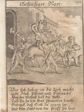 Gefräßiger stolto FRESS-cerca ORIG RAME chiave Abraham a Sancta Clara 1709