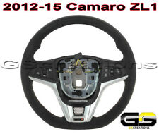 2012-15 Camaro ZL1 Genuine GM Manual Suede Steering Wheel Red Stitching