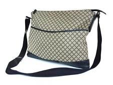 GUCCI Diamante Canvas Leather Black Cross-Body Shoulder Bag GS1762