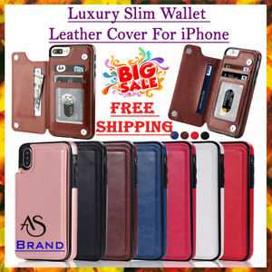 Luxury For iPhone 12 11 Pro XS Max XR 8 Plus Leather Magnetic Wallet Case Cover