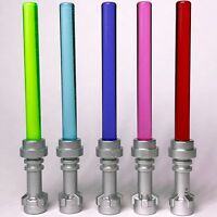 5 x STAR WARS lego GREEN blue PURPLE pink RED LIGHTSABERS jedi sith minifig NEW
