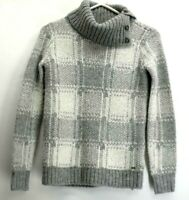 Tommy Hilfiger Women's XS Acrylic Wool Blend Turtleneck Gray Knitted Sweater