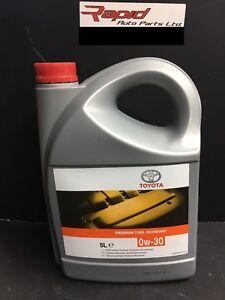 Genuine Toyota Engine Motor  Oil  0W 30 Premium Fuel Economy 5 Litres 0888082871