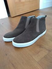 New SEASALT Cove ankle boots sz 40 / 7 brown suede, pull-on, elasticated, shoes