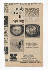 Chyrsler Valiant Accessories Advertisement from a 1968 Magazine AP5 AP6 VC VE VF