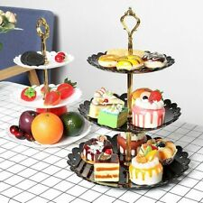 3 Layers Cake Stand Fruit Dessert Plate Wedding Party Home Decorative Snack Tray