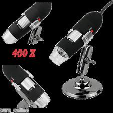 MICROSCOPIO DIGITALE 800X USB Foto Video 2MP Led X Mac Windows Alta Risoluzione