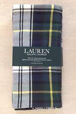 "NWT Ralph Lauren Middlebrook Plaid Green Tartan Set of 4 Napkins 20"""