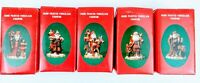 1991 Santa's of the nations Ceramic Figurine China Mexico Germany Sweden England